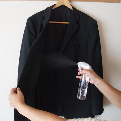 ジャケットにヌーラをスプレー